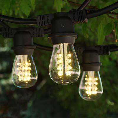 led globe lights led edison string lights suspended edison string. Black Bedroom Furniture Sets. Home Design Ideas