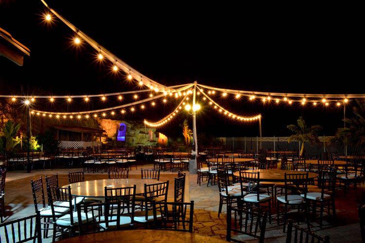 Diy wedding lighting rentals american party lights lighting for outdoor weddings aloadofball Image collections