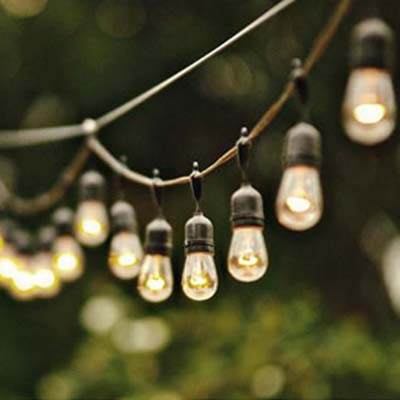 Rent Suspended Edison String Lights Free Shipping Nationwide